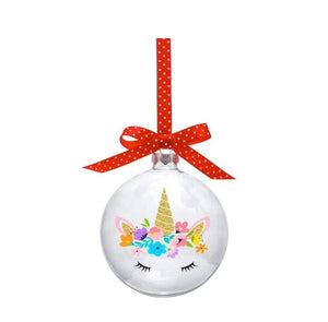 Unicorn Christmas Bauble