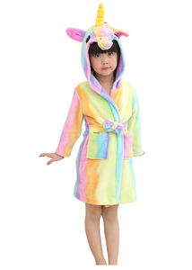 Unicorn Dressing Gown Kids Children Girls