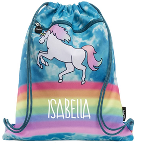 Unicorn Drawstring Kids Bag PE Kit/ Swimming Bag