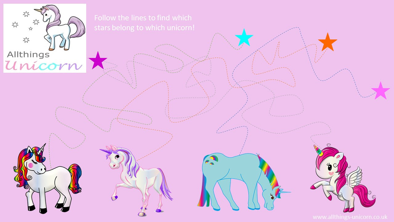 Unicorn Kids Activity Sheet