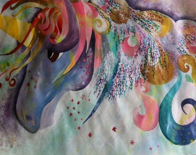 Unicorn Art Painting By K. Smith