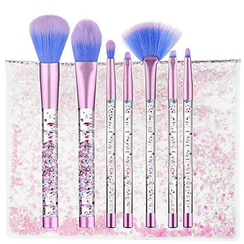 unicorn make up brush bag set