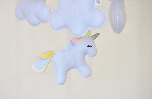 Felt Unicorn Hanging Mobile Babies Children Girls