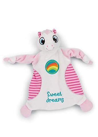 Sweet Dreams Unicorn Comforter | Cuddle Cloth For Newborns | Rainbow, White, Pink