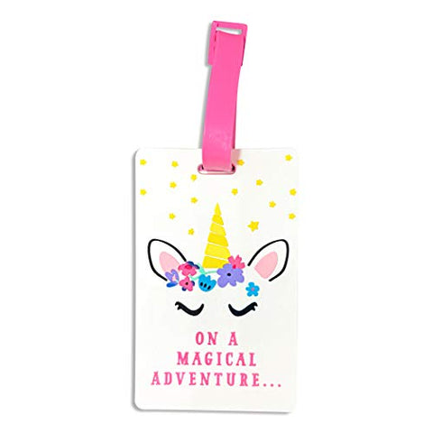 Pink Unicorn Suitcase Luggage Label | Kids Suitcase Tags | Tags for Suitcase