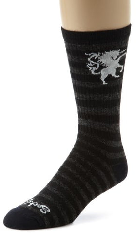 Sockguy Crew Technical Socks - Wool Medieval Unicorn, Small/Medium/8-Inch