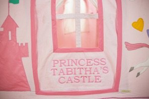 Large Personalised Kiddiewinkles Princess Castle and Unicorn Playhouse - Pink
