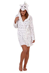 Loungeable Adults Silver Star Unicorn Robe - Large