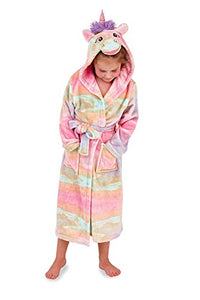 Girls Hooded Unicorn Dressing Gown Robe | Super Soft | Various Sizes Available