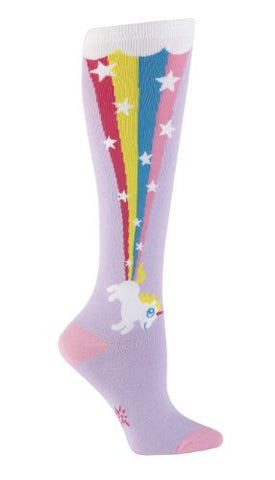 Sock It To Me Womens Funky Knee High Socks - Rainbow Blast Womens Socks