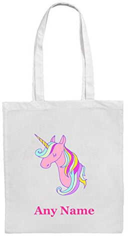 Personalised Pink Unicorn Shopping/Tote Shoulder Bag