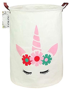 Unicorn Laundry Hamper Storage Bin | Canvas | Foldable