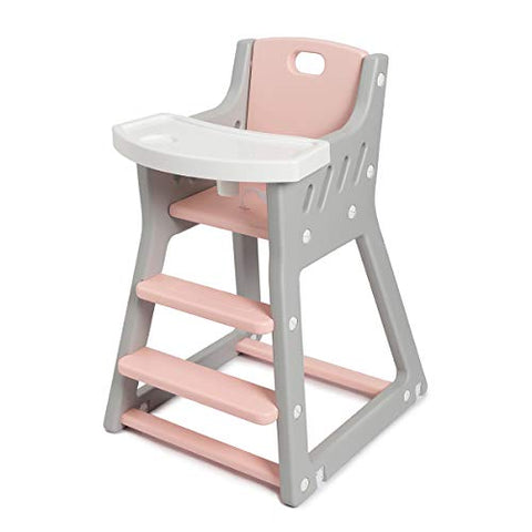 Grey and Pink Baby Highchair 6-36 Months (max. 15 kg)