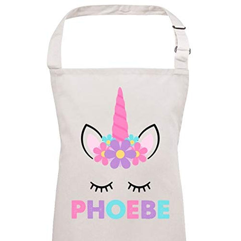 Girls Personalised Name Unicorn Apron | 3-10 Years | Gift Idea
