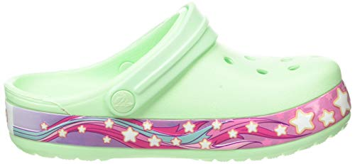 Unicorn stars mint green kids Crocs clogs