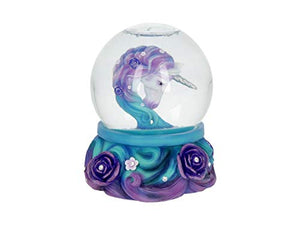 Beautiful Unicorn Snowglobe |  Purple | Resin | Glass | Gift Idea