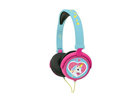 Unicorn Stereo Headphone | Kids Safe | Foldable | Adjustable | Pink / Blue