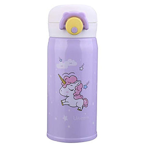 Unicorn Stainless Steel Thermos Flask | Girls | Water Bottle Cup | Lilac