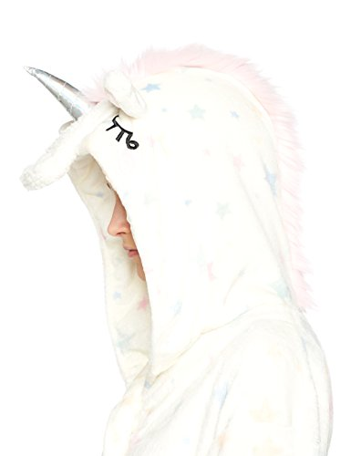 Dorothy Perkins Women's Unicorn Hood Dressing Gown, Beige(Cream), X-Large