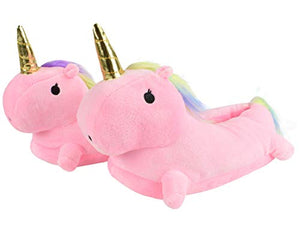 Unicorn Slippers For Women | Soft Cosy Plush | Pink