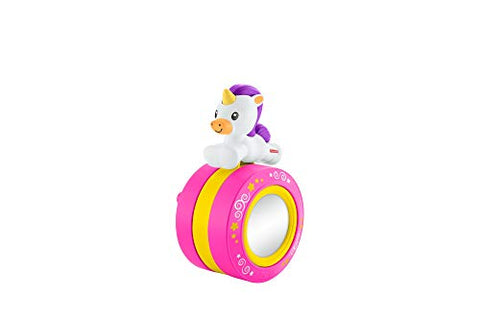 Fisher-Price Crawl Along Musical Unicorn, Pink Rolling Toy for Baby, Multi-Colour