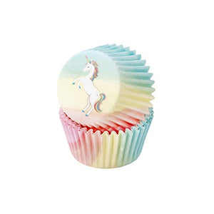 Unicorn Cupcake Cases - Pack of 30 (Pastel Colours)