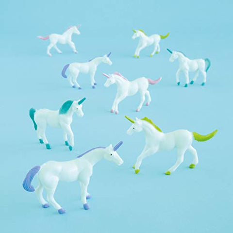 Unicorn Party Bag Fillers -  Plastic Unicorn Party Bag Fillers, Pack of 8