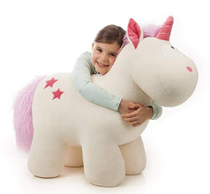 XXL Unicorn Toy | 80cm | Standing | White