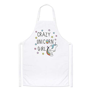 Crazy Unicorn Girl Chefs Apron | Novelty Gift Idea