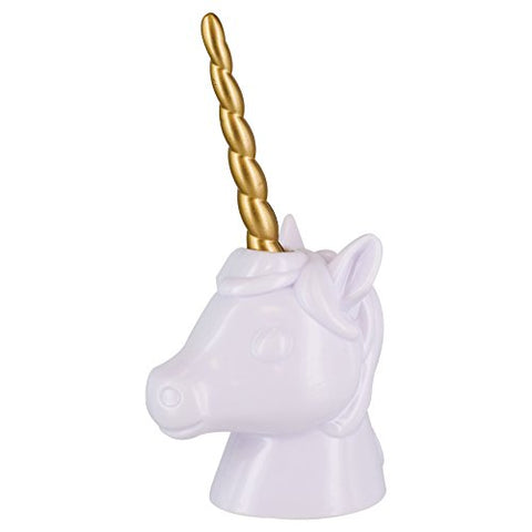 Unicorn Shaped Pen Holder | White & Gold