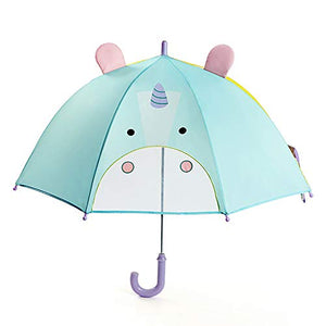 Cute Unicorn Children's Umbrella | 3D Design | Blue