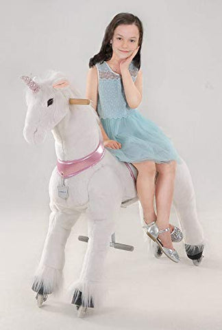 FREE Action Pony - Large Mechanical Unicorn Toy, Ride on