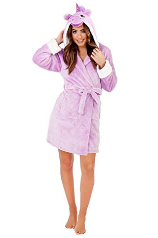 Ladies / Women's Dressing Gown | Unicorn Style | Purple/Lilac