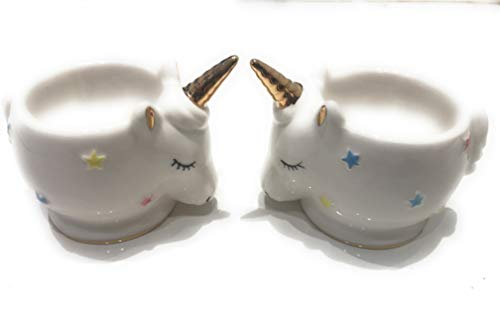 White Unicorn Egg Cups 2 Pack