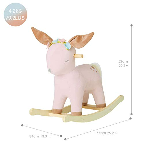 labebe | Pink Deer Unicorn | Ride On Toy For 1-3 Year Old | Pink