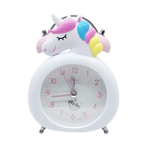 Unicorn Alarm Clock For Girls, With Night Light, Battery Operated, Non-Ticking