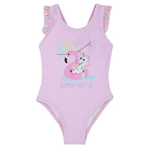 Pastel pink unicorn swimming costume