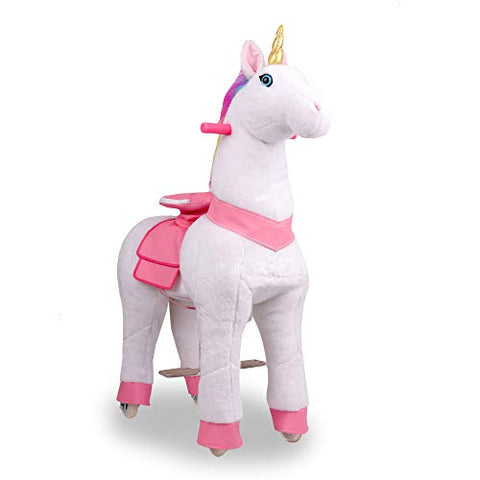 Pony Rider Ride On Unicorn Pony - Giddy up Unicorn Pony Plush Age 3+