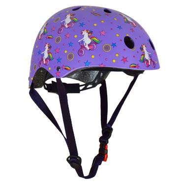 Purple safety bike helmet