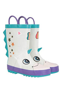Mountain Warehouse Unicorn Character Junior Kids Wellies