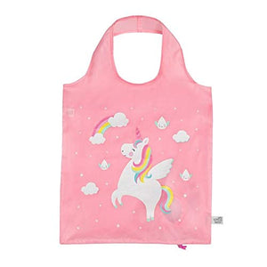 Rainbow Unicorn Raindrop Foldable Shopping Bag | Sass & Belle