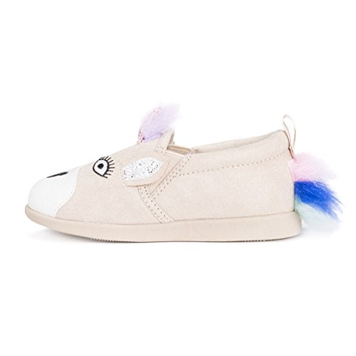 MUK LUKS unisex-child MUK LUKS® Kid's Luna the Unicorn Shoes Beige Blue, Pink