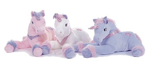 "Large 13"" Unicorn Plush Soft Toy Cuddly in 3 assorted Colours Luxury soft toy (Pink)"