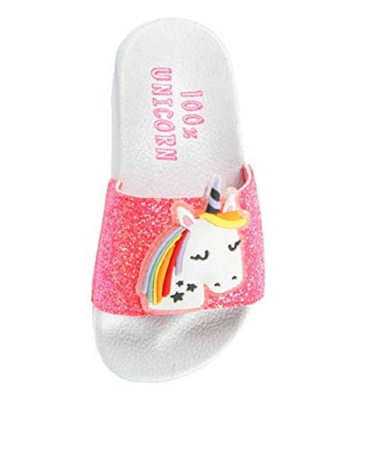 Girls Unicorn Pink Glitter Slider Pool
