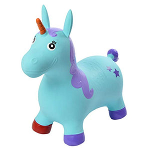 Ride on blue unicorn kids toy