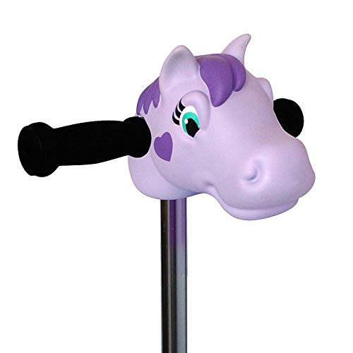 Scootaheadz. Perfect For Christmas Lovely Lola Kids Girls Fun Scooter Bike T-Bar Handlebar Head Character Purple Pony