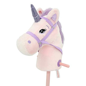 Unicorn Hobby Horse | Pink |  100 cm | Girls Gift