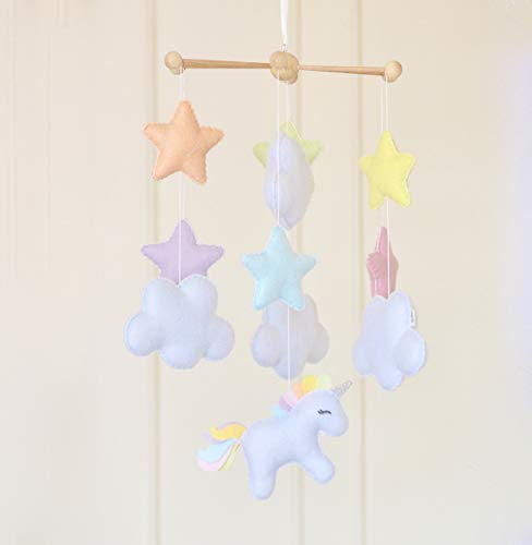 Baby Shower Gift Present Unicorn Hanging Mobile