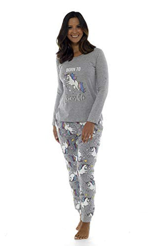 Born To Sparkle Women's Pyjamas Unicorn Design