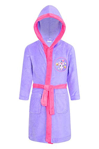 The Pyjama Factory Unicorn Emoji Dressing Gown Girls Fluffy Fleece